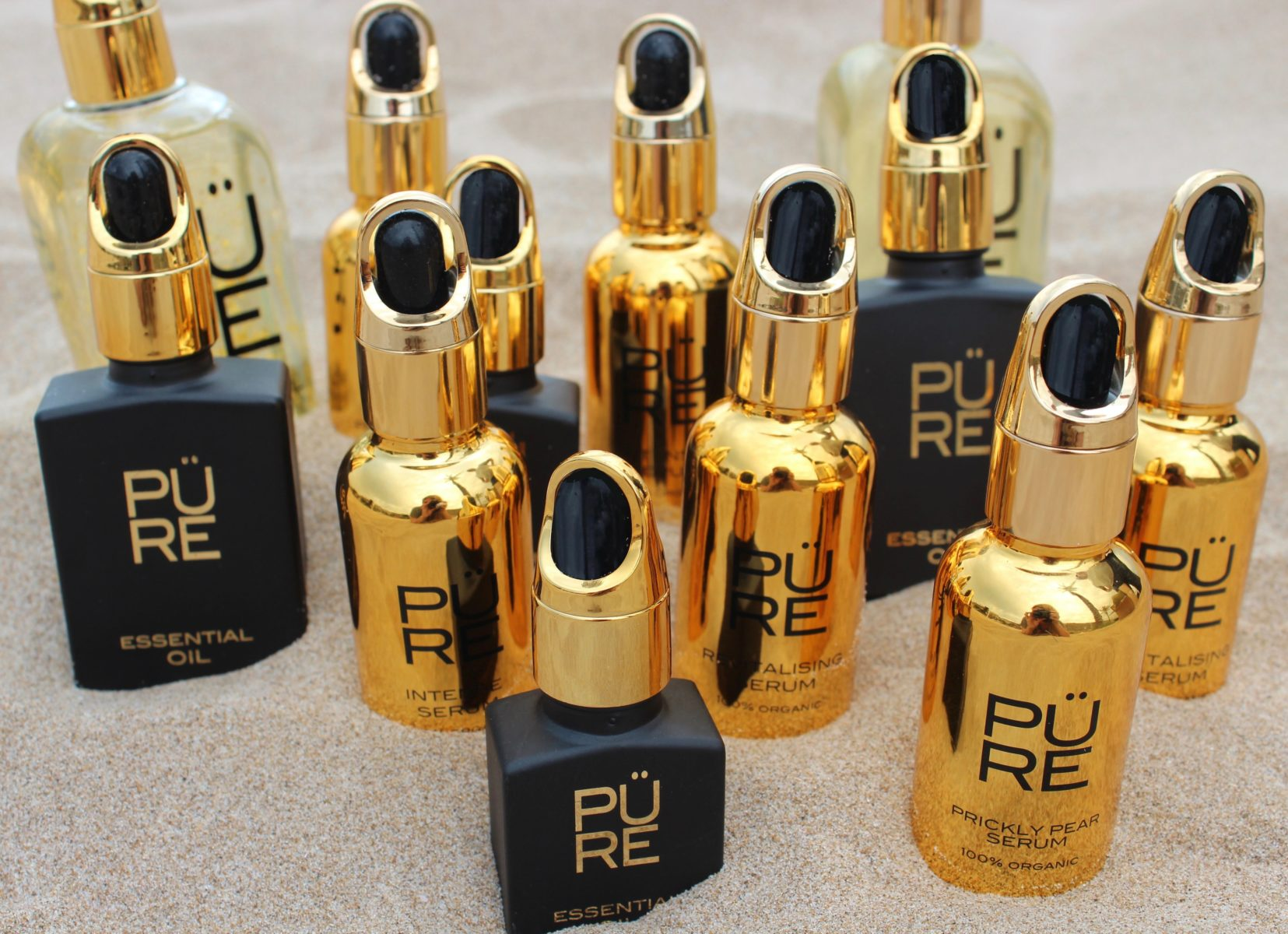 The PÜRE Collection luxury in a golden bottle