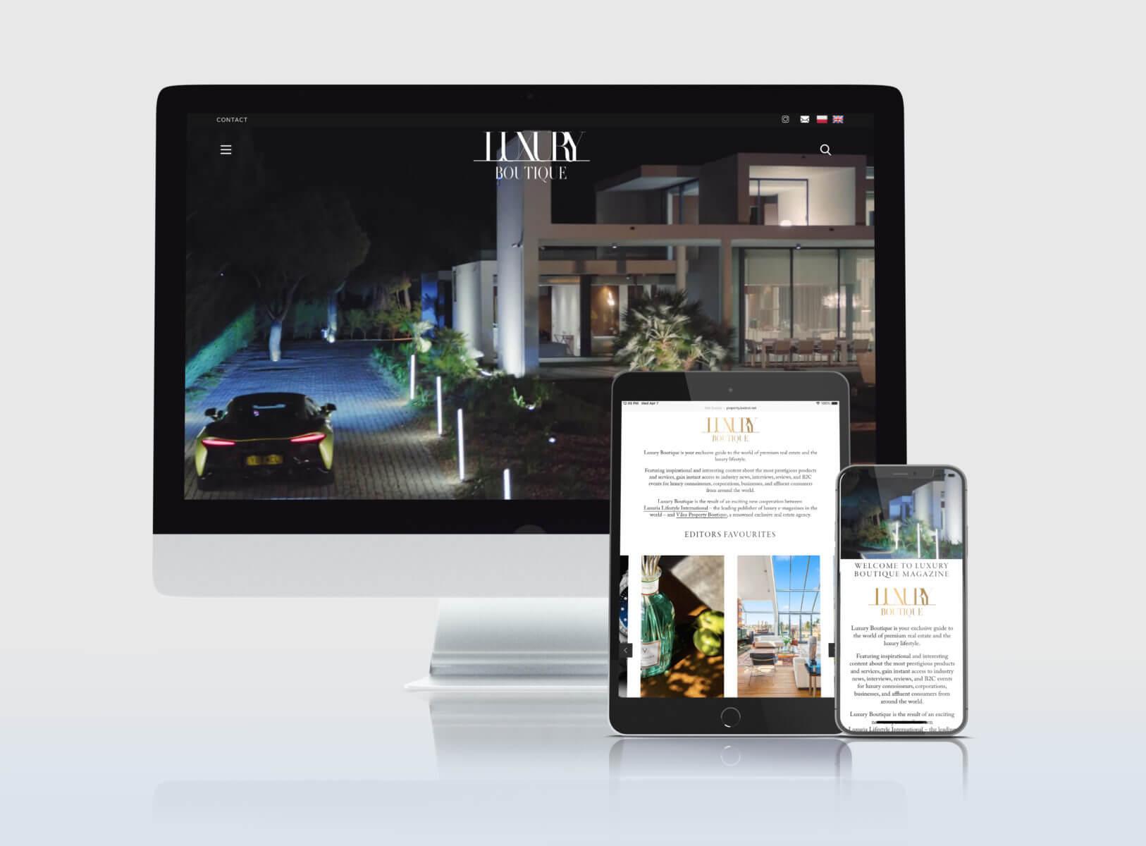 LUXURIA DESIGN CREATES THE NEW LUXURY BOUTIQUE WEBSITE AND E-MAGAZINE FOR LEADING POLISH BRAND